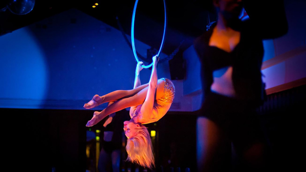 Pop up Circus Entertainment and Three Course Set Menu with Prosecco at Circus for Two