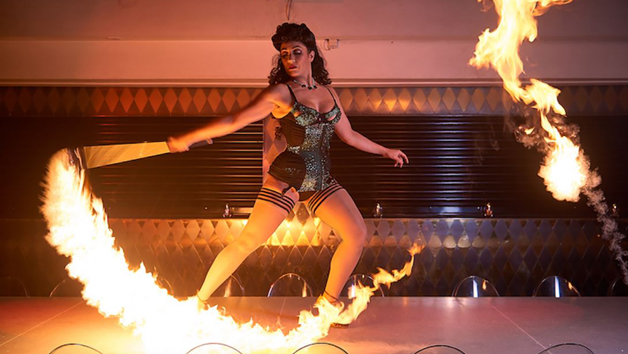 Pop up Circus Entertainment with Four Course Meal and Glass of Prosecco at Circus for Two