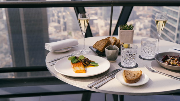 Three Course Meal and Sides with Cocktails for Two at Searcys at The Gherkin