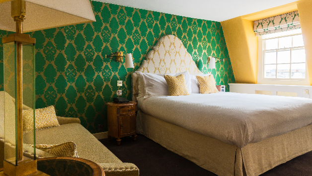 One Night Stay with a Bottle of Fizz for Two at The Queensberry Hotel