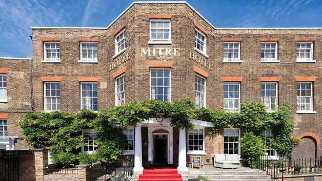 Overnight Stay for Two with Afternoon Tea and a Glass of Fizz at The Mitre Hotel Hampton Court