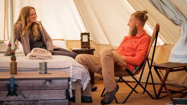 Two Night Glamping in a Bell Tent for Two with Hot Tub and Choice of Activities at Wild Carrot