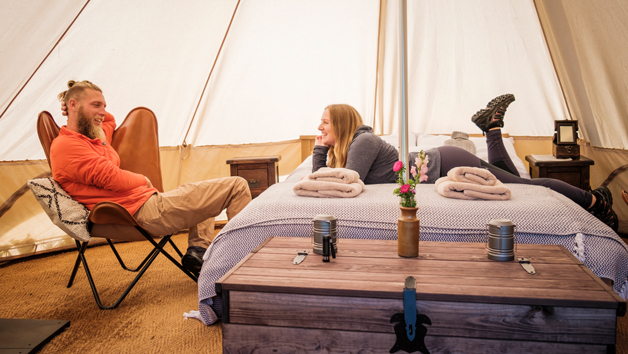 Two Night Glamping in the Cotswolds for Two with a Hot Tub and Choice of Activities at Wild Carrot