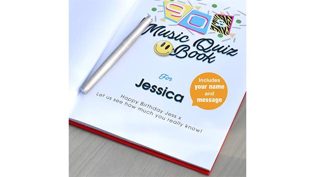 Personalised 1990s Music Quiz Book