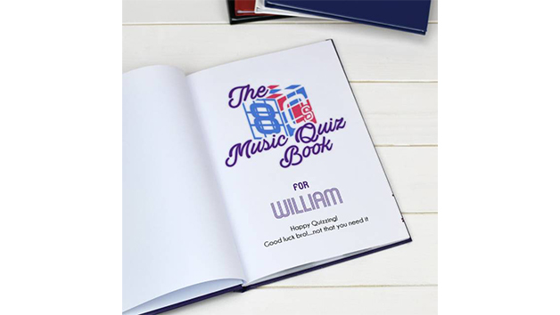 Personalised 1980s Music Quiz Book