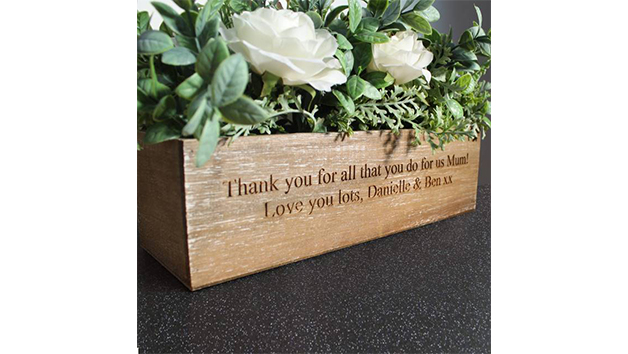Artificial Flower Box With Personalisation