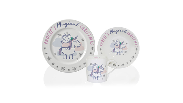 Christmas Personalised Peppa Pig Breakfast Set