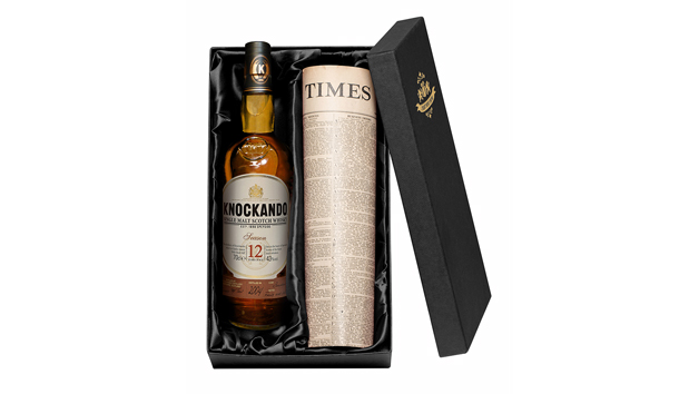 Knockando Malt Whisky and Newspaper with Gift Box