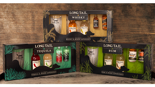 Long Tail Rum, Whisky or Tequila Mixer Gift Box