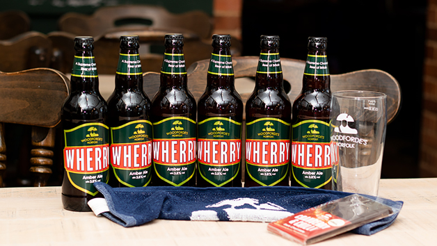 Create the Pub at Home Kit from Woodforde's Brewery with Eight Bottles of Wherry Ale