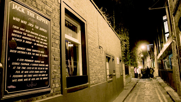Jack The Ripper Whitechapel Walking Tour with Fish and Chips for Two