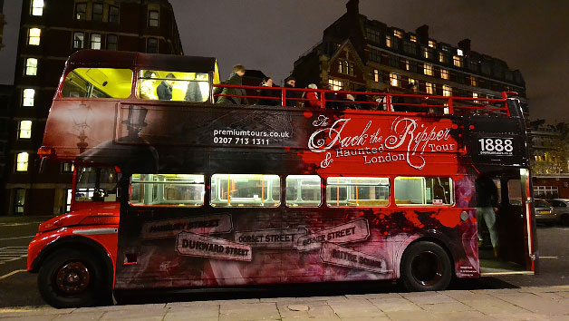 Vintage Jack the Ripper Haunted London Bus Tour for Two
