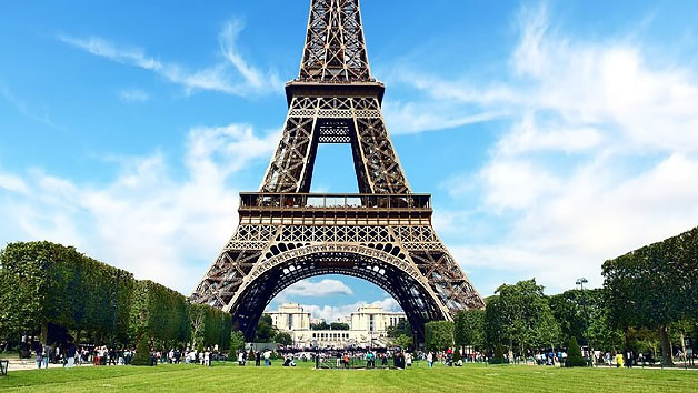 Guided Day Trip of Paris with Lunch at the Eiffel Tower for Two