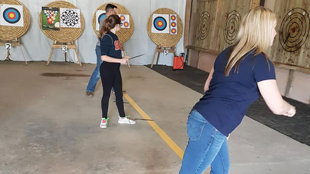 Axe Throwing Adults at Aim Country Sports for Two