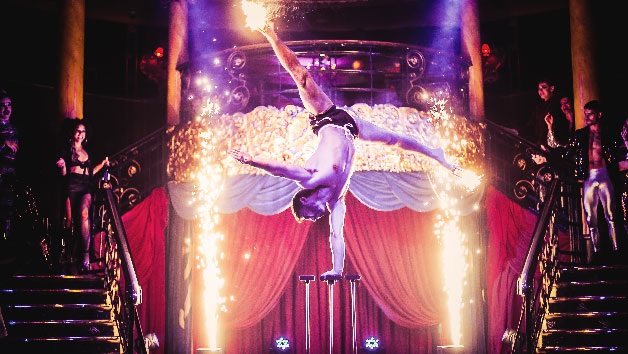 Friday Night Cabaret Show with Two Course Meal and Drink for Two at Cafe de Paris