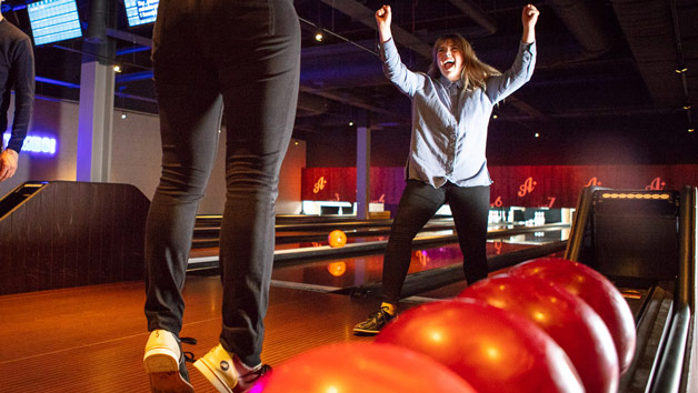 A Game of Bowling with a Two Course Meal and a Cocktail for Two at All Star Lanes