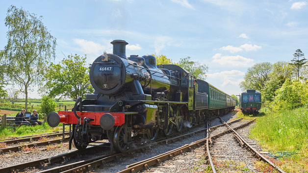 Steam Train Ride for Two on the East Somerset Railway with Cream Tea in the Whistlestop Cafe