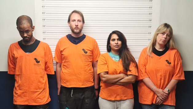 Prison Guard Escape Room for Four People at Fox in a Box London