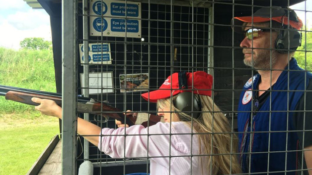 Clay Pigeon Shooting with 120 Clays at Guns and Clays for Three