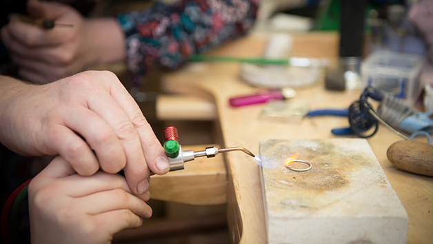 Silversmithing Class at Hiraeth Creative for Two