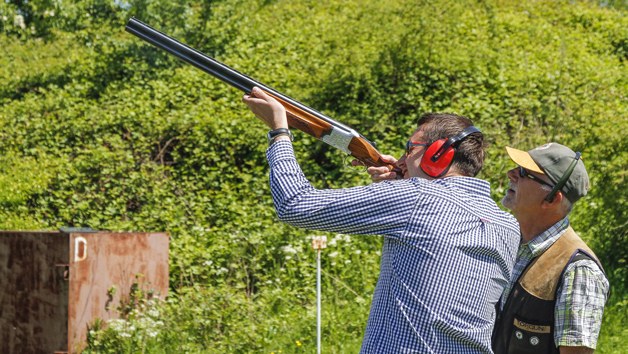 Clay Shooting with 40 Clays Each at Lea Valley Shooting Association for Two