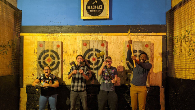 Axe Throwing for Four People at Black Axe Throwing Co