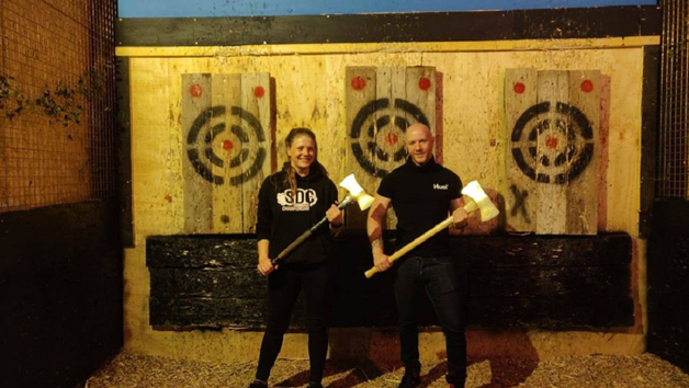 Axe Throwing for Two People at Black Axe Throwing Co