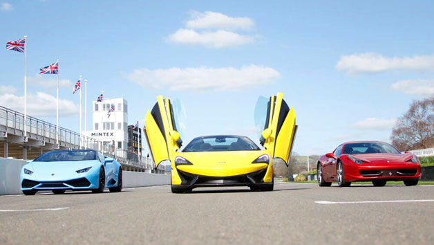Triple Supercar Driving Thrill at Goodwood for One Person