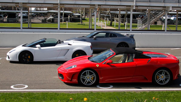 Triple Supercar Driving Blast at Goodwood for One Person