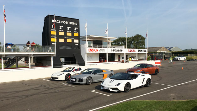 Four Supercar Driving Blast at Goodwood for One Person