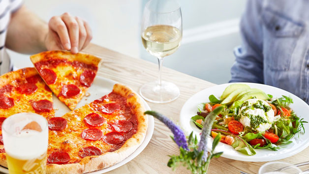 Three Courses with Wine for Two at a Prezzo Restaurant