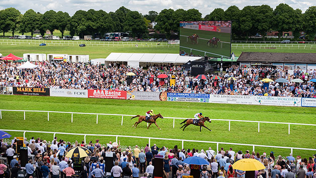 Horse Racing Day at Uttoxeter Racecourse for Two