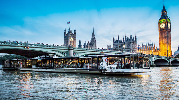 Superior Bateaux 5 Course Dinner Thames Cruise with Live Entertainment for Two