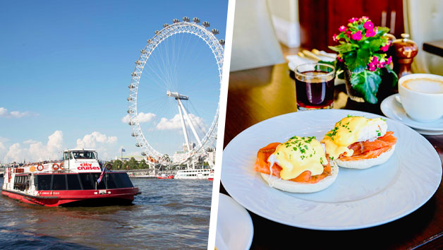Two Course Bottomless Brunch at Amba Hotel Charing Cross and a Sightseeing Thames Cruise for Two