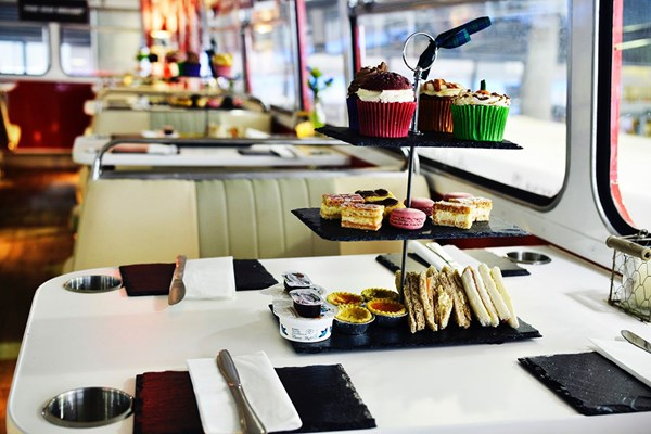 Sparkling Afternoon Tea Edinburgh Bus Tour with Red Bus Bistro for Two