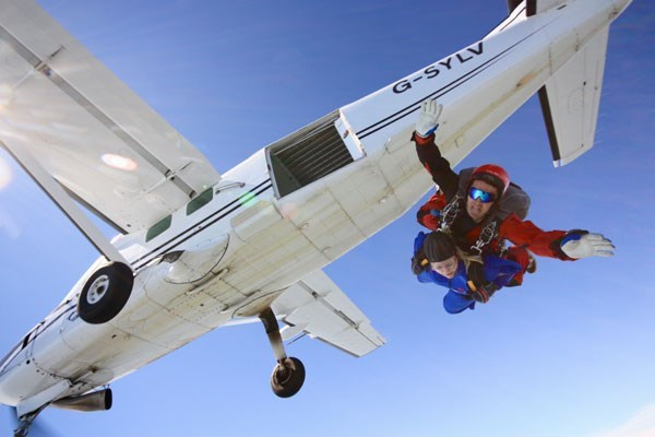 Tandem Skydive for Beginners in Wales