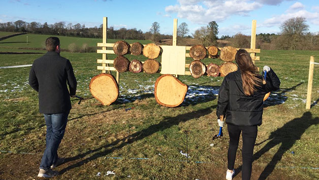 Click to view product details and reviews for Axe Throwing Experience For Two At Devon Country Pursuits.