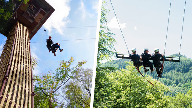 Click to view product details and reviews for Zip World Skyride And Plummet For Two.