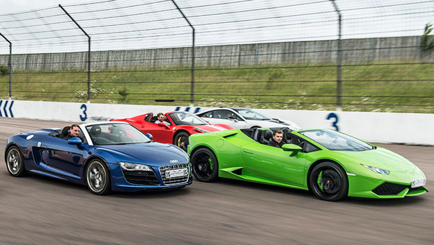 Four Supercar Thrill With High Speed Passenger Ride  Week Round