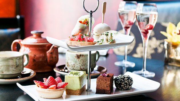 Afternoon Tea With A Glass Of Champagne For Two At Buddha-bar