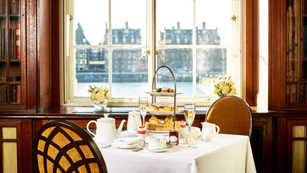 Afternoon Tea with a Glass of Champagne in The Library, London Marriott Hotel County Hall for Two