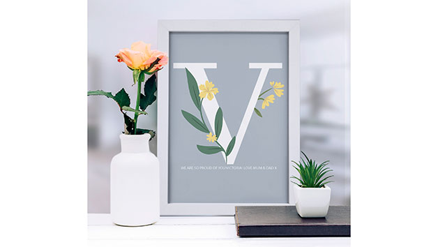 Personalised Initial A3 Framed Print