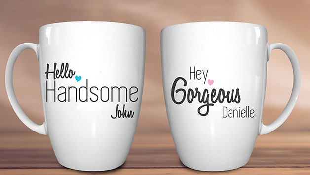 Personalised His And Hers Mug Set