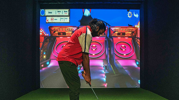 55 Minute Indoor Golf Simulation For Four At Skratch18