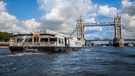 Bateaux London Thames Sunday Lunch Jazz Cruise for Two