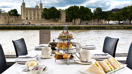 Bateaux London Thames Afternoon Tea Cruise for Two
