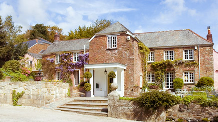 Two Night Country House Escape for Two at Boscundle Manor, Cornwall