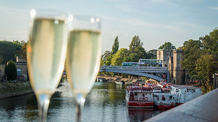 Floodlit Evening River Cruise of York with Prosecco for Two