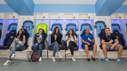Family of Five Tour of Manchester City FC's Etihad Stadium