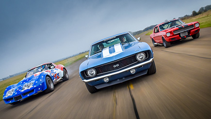 Quadruple American Classic Car Blast and Hot Ride